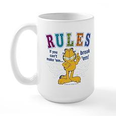 Break Rules Garfield Large Mug