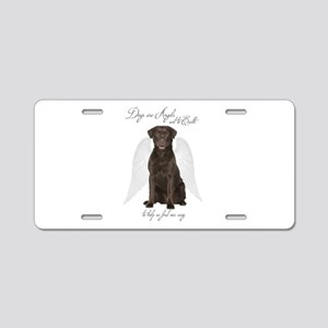 Chocolate Lab Angel Aluminum License Plate