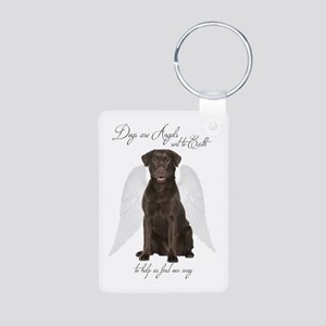 Chocolate Lab Angel Keychains