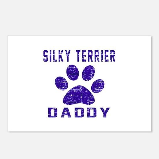 Silky Terrier Daddy Desig Postcards (Package of 8)