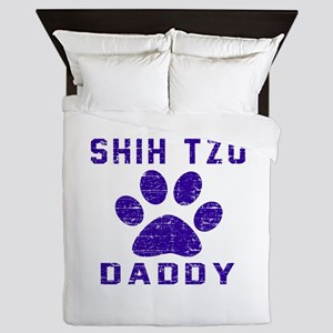 Shih Tzu Daddy Designs Queen Duvet