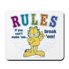 Break Rules Garfield Mousepad