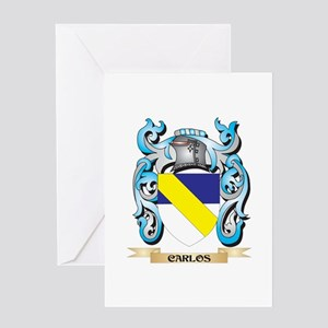 Carlos Coat of Arms - Family Crest Greeting Cards
