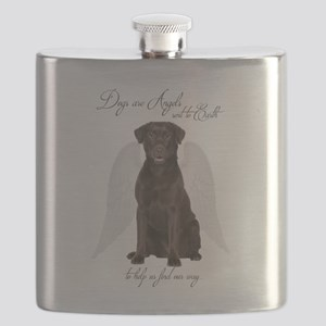 Chocolate Lab Angel Flask