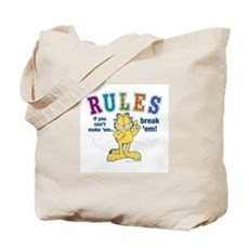 Break Rules Garfield Tote Bag