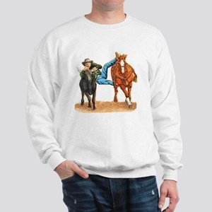 Bull Doggin, Steer Wrestling Sweatshirt