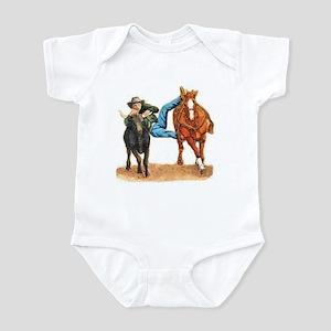 Bull Doggin, Steer Wrestling Infant Bodysuit