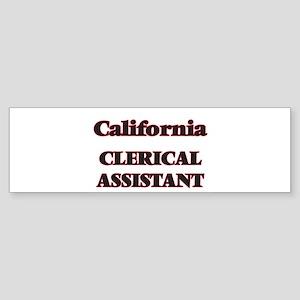 California Clerical Assistant Bumper Sticker