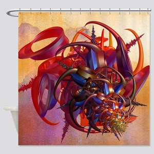 Sci-fi insect Shower Curtain
