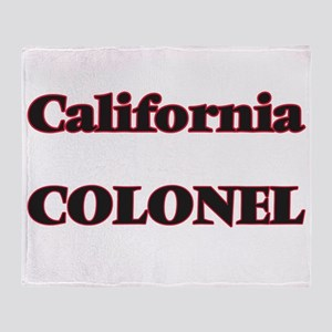 California Colonel Throw Blanket