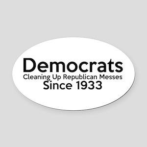 Funny Pro Democrats Oval Car Magnet