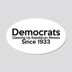 Funny Pro Democrats Wall Sticker