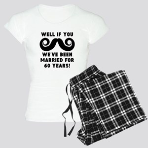 60th Wedding Anniversary Mustache Pajamas