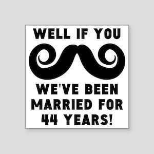44th Wedding Anniversary Mustache Sticker