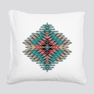 Southwest Native Style Sunbur Square Canvas Pillow
