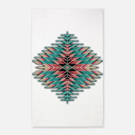 Southwest Native Style Sunburst Area Rug
