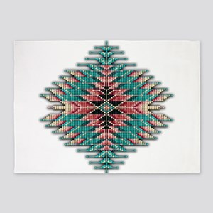 Southwest Native Style Sunburst 5'x7'Area Rug