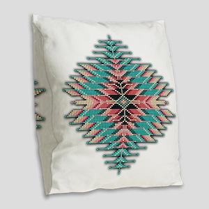 Southwest Native Style Sunburs Burlap Throw Pillow