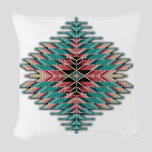 Southwest Native Style Sunburs Woven Throw Pillow