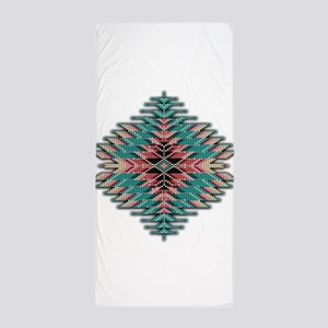 Southwest Native Style Sunburst Beach Towel