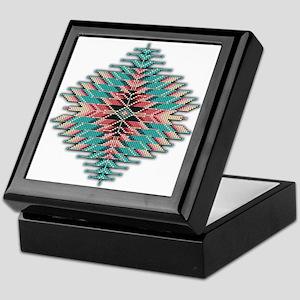 Southwest Native Style Sunburst Keepsake Box