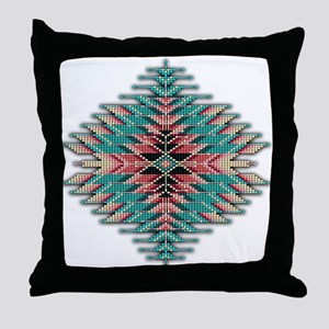 Southwest Native Style Sunburst Throw Pillow