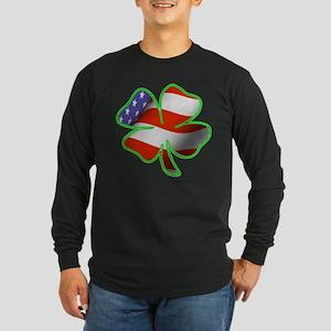 Irish American Long Sleeve Dark T-Shirt