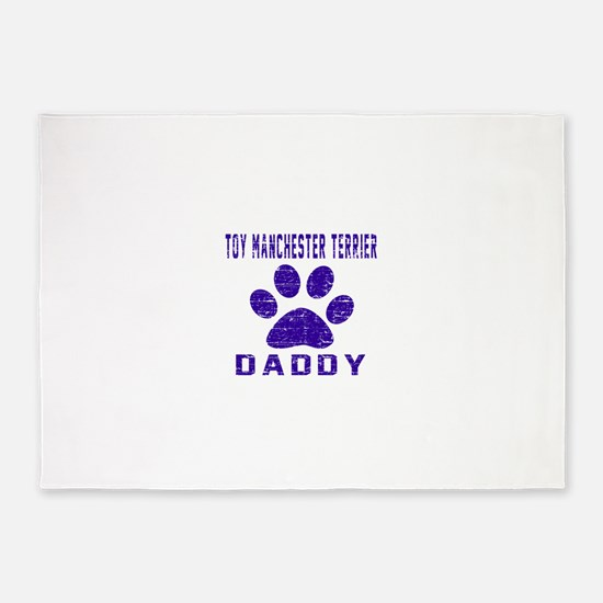 Toy Manchester Terrier Daddy Design 5'x7'Area Rug