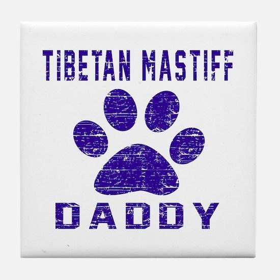 Tibetan Mastiff Daddy Designs Tile Coaster