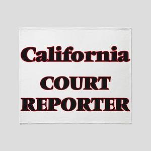 California Court Reporter Throw Blanket