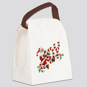Vintage Joy and Santa Canvas Lunch Bag