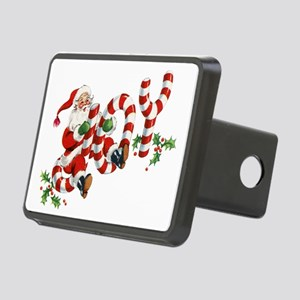 Vintage Joy and Santa Rectangular Hitch Cover