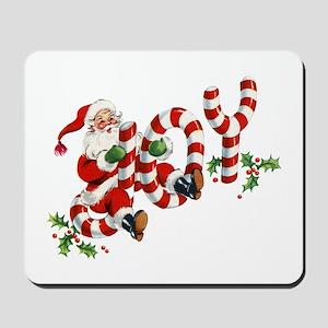Vintage Joy and Santa Mousepad