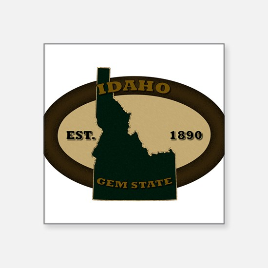 "Unique Idaho Square Sticker 3"" x 3"""