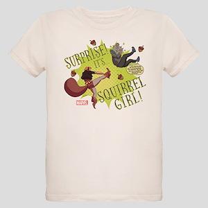 Squirrel Girl Fighting Crime Organic Kids T-Shirt