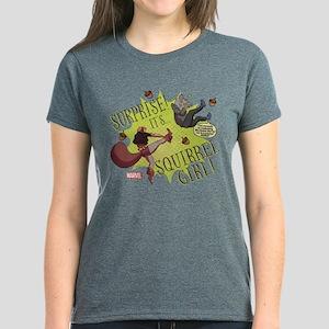 Squirrel Girl Fighting Crime Women's Dark T-Shirt