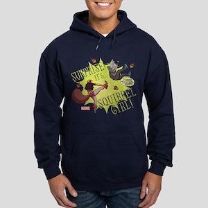 Squirrel Girl Fighting Crime Hoodie (dark)