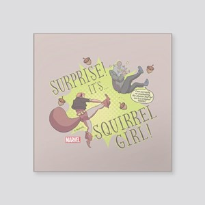 "Squirrel Girl Fighting Crim Square Sticker 3"" x 3"""