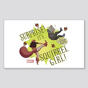 Squirrel Girl Fighting Crime Sticker (Rectangle)