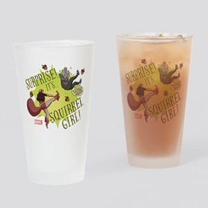 Squirrel Girl Fighting Crime Drinking Glass