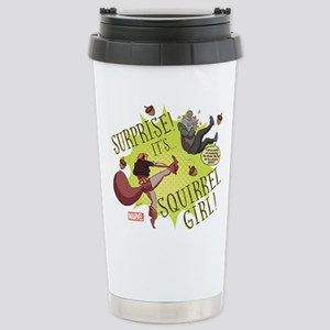Squirrel Girl Fighting Stainless Steel Travel Mug