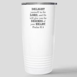 Psalm 37:4 Stainless Steel Travel Mug
