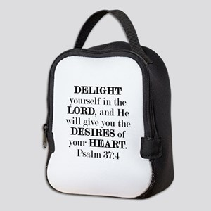 Psalm 37:4 Neoprene Lunch Bag