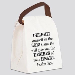 Psalm 37:4 Canvas Lunch Bag