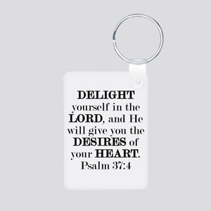 Psalm 37:4 Aluminum Photo Keychain Keychains