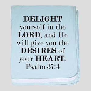 Psalm 37:4 baby blanket