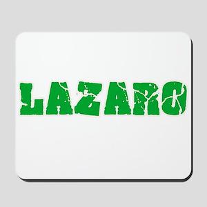 Lazaro Name Weathered Green Design Mousepad