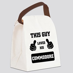 THIS GUY LOVES HIS COMMODORE Canvas Lunch Bag