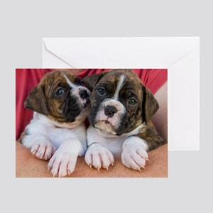 Brindle Boxer Friends Greeting Cards