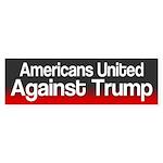 Americans United Against Donald Bumper Sticker
